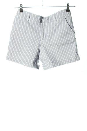 H&M L.O.G.G. Shorts weiß-blau Streifenmuster Casual-Look