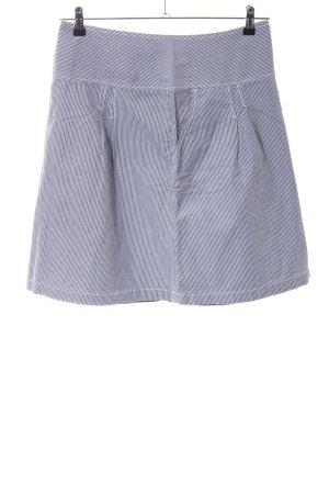 H&M L.O.G.G. Skaterrock weiß-blau Streifenmuster Casual-Look