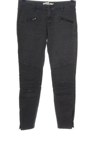 H&M L.O.G.G. Skinny Jeans blau Streifenmuster Casual-Look