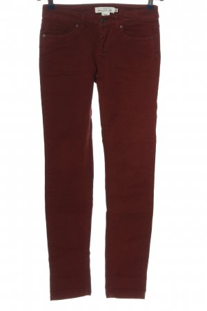 H&M L.O.G.G. Skinny Jeans rot Casual-Look
