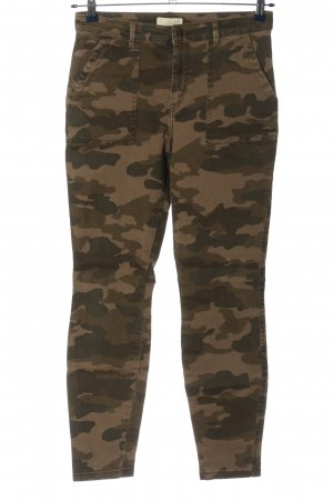 H&M L.O.G.G. Skinny Jeans braun-schwarz Camouflagemuster Casual-Look
