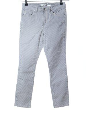 H&M L.O.G.G. Slim Jeans weiß-hellgrau Streifenmuster Casual-Look