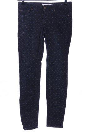 H&M L.O.G.G. Slim Jeans schwarz-blau Allover-Druck Casual-Look
