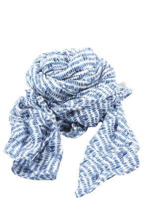 H&M L.O.G.G. Écharpe d'été bleu-blanc motif abstrait style décontracté