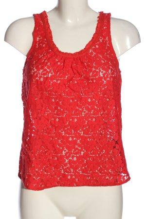 H&M L.O.G.G. Koronkowa bluzka czerwony W stylu casual