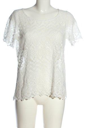 H&M L.O.G.G. Blouse en dentelle blanc style décontracté