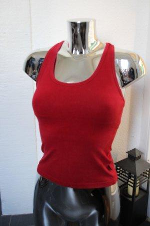 H&M L.O.G.G. Sport Top mit Bustier rot dunkelrot Gr. XS