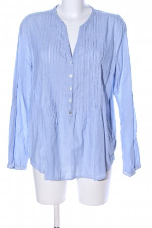 H&M L.O.G.G. Blusa de cuello alto azul estampado a rayas look casual
