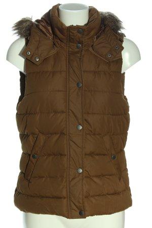 H&M L.O.G.G. Chaleco acolchado marrón estampado acolchado look casual