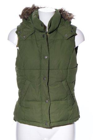 H&M L.O.G.G. Gewatteerd vest khaki quilten patroon casual uitstraling