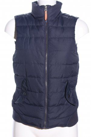 H&M L.O.G.G. Quilted Gilet blue quilting pattern casual look