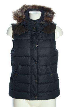 H&M L.O.G.G. Gewatteerd vest zwart quilten patroon casual uitstraling