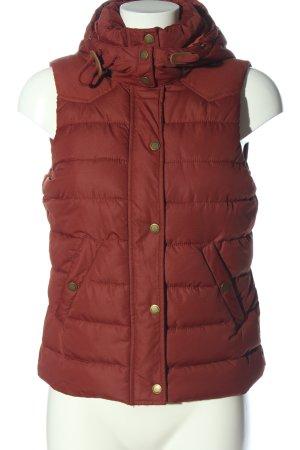 H&M L.O.G.G. Pikowana kamizelka czerwony Pikowany wzór W stylu casual