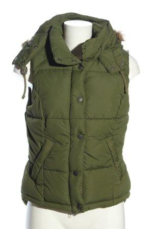 H&M L.O.G.G. Steppweste khaki-braun Steppmuster Casual-Look