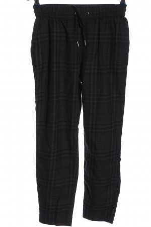 H&M L.O.G.G. Stoffhose schwarz Karomuster Casual-Look