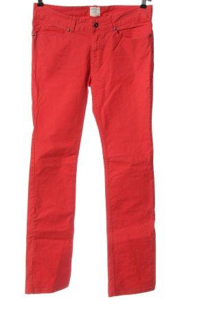H&M L.O.G.G. Jeansy z prostymi nogawkami czerwony W stylu casual