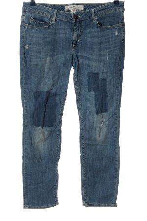 H&M L.O.G.G. Straight-Leg Jeans blau Casual-Look