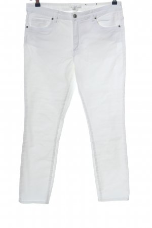 H&M L.O.G.G. Straight-Leg Jeans weiß Casual-Look