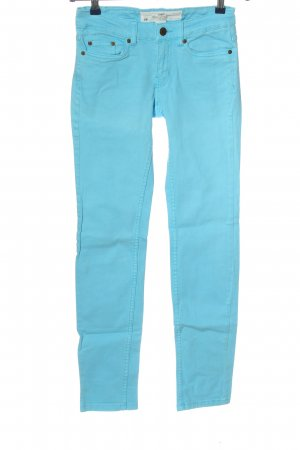 H&M L.O.G.G. Straight-Leg Jeans türkis Casual-Look
