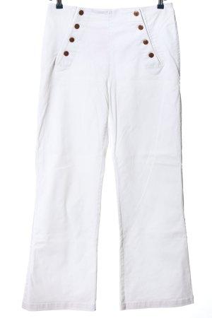 H&M L.O.G.G. Stretch Jeans weiß Casual-Look
