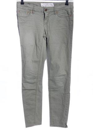 H&M L.O.G.G. Stretch Jeans hellgrau Casual-Look