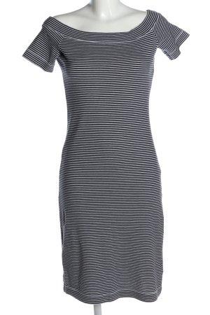 H&M L.O.G.G. Stretchkleid schwarz-weiß Streifenmuster Casual-Look