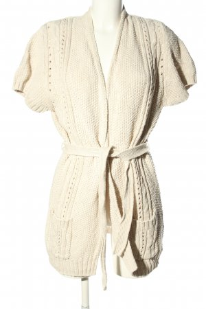 H&M L.O.G.G. Strick Cardigan creme Zopfmuster Business-Look