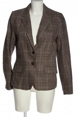 H&M L.O.G.G. Knitted Blazer brown check pattern business style