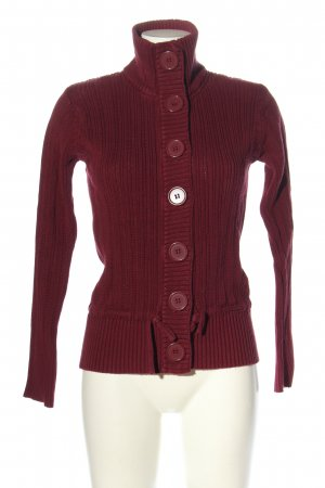 H&M L.O.G.G. Strickjacke rot Zopfmuster Casual-Look