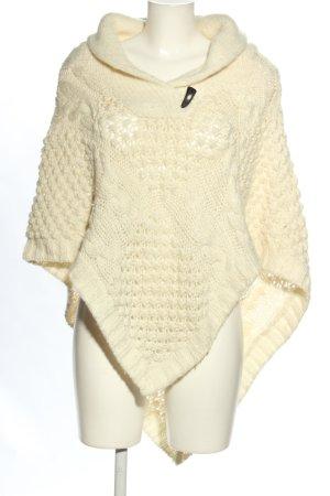 H&M L.O.G.G. Poncho en tricot crème torsades style décontracté
