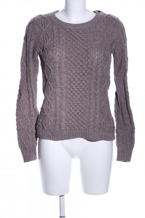 H&M L.O.G.G. Strickpullover braun Zopfmuster Casual-Look