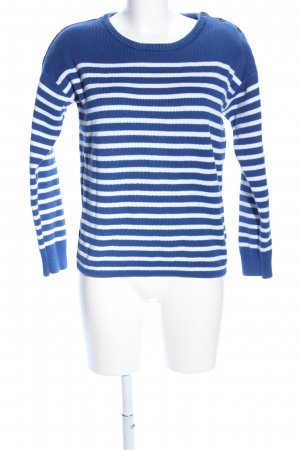 H&M L.O.G.G. Strickpullover blau-weiß Streifenmuster Casual-Look