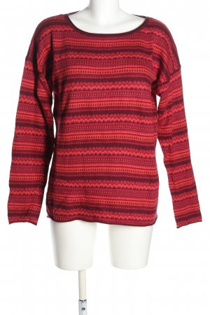 H&M L.O.G.G. Strickpullover rot Streifenmuster Casual-Look