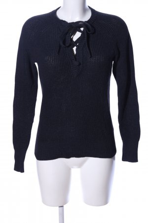 H&M L.O.G.G. Knitted Sweater black casual look