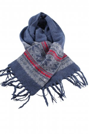 H&M L.O.G.G. Écharpe en tricot motif graphique style décontracté