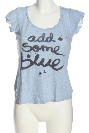 H&M L.O.G.G. Strickshirt blau-schwarz meliert Casual-Look