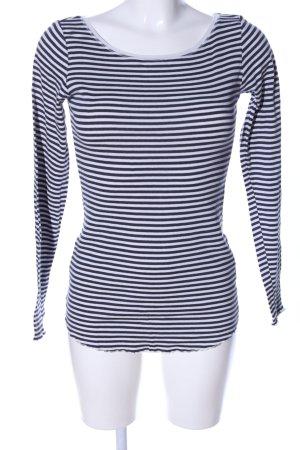 H&M L.O.G.G. Strickshirt blau-weiß Streifenmuster Casual-Look