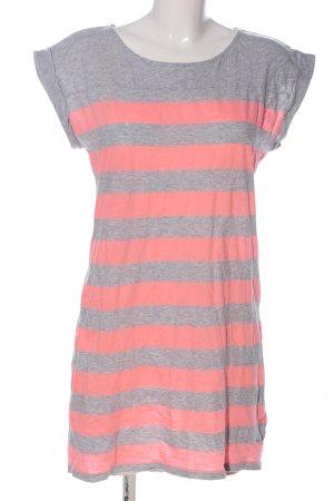 H&M L.O.G.G. Robe t-shirt rose-gris clair moucheté style décontracté