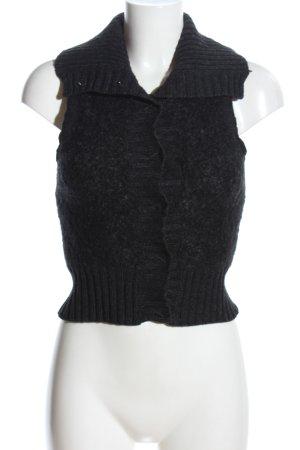 H&M L.O.G.G. Strickweste schwarz Casual-Look