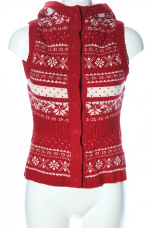 H&M L.O.G.G. Knitted Vest red-white mixed pattern casual look
