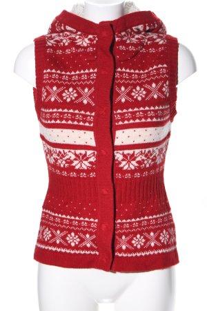 H&M L.O.G.G. Chaleco de punto rojo-blanco puro estampado gráfico look casual