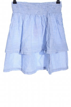 H&M L.O.G.G. Broomstick Skirt blue-white striped pattern casual look