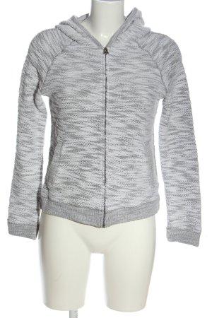 H&M L.O.G.G. Veste sweat gris clair-blanc style décontracté