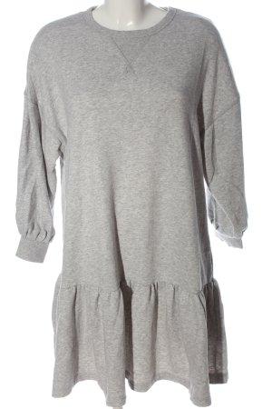 H&M L.O.G.G. Vestido de tela de sudadera gris claro moteado look casual