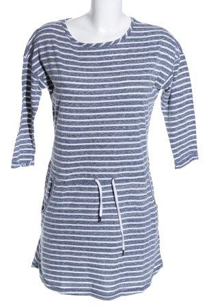 H&M L.O.G.G. Sweatkleid blau-weiß Allover-Druck Casual-Look