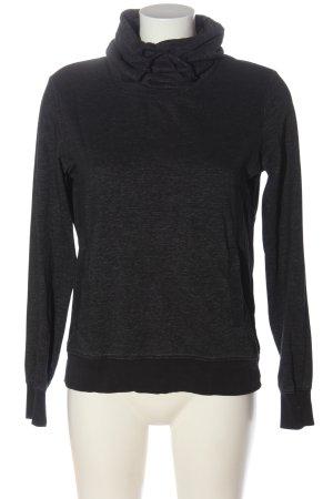 H&M L.O.G.G. Sweatshirt schwarz meliert Casual-Look