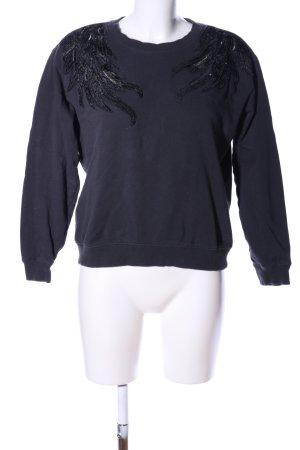H&M L.O.G.G. Sweatshirt schwarz Business-Look