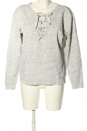 H&M L.O.G.G. Sweatshirt hellgrau meliert Casual-Look