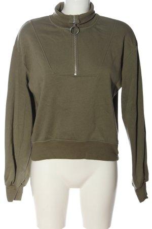 H&M L.O.G.G. Sweatshirt khaki Zopfmuster Casual-Look