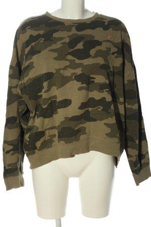 H&M L.O.G.G. Sweatshirt khaki Camouflagemuster Casual-Look